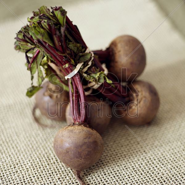 high angle close up of some beetroot stock photo
