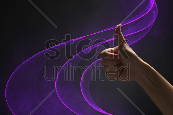 human hand giving thumbs up stock photo