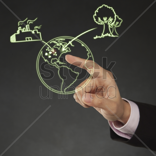 index finger pointing at a digital illustration stock photo