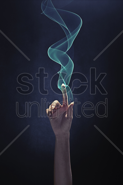 index finger pointing upwards stock photo