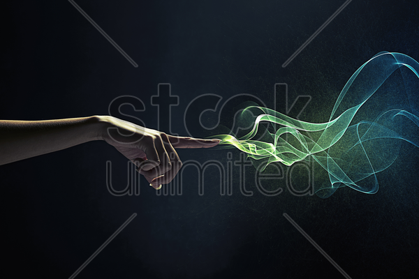 index finger pointing stock photo