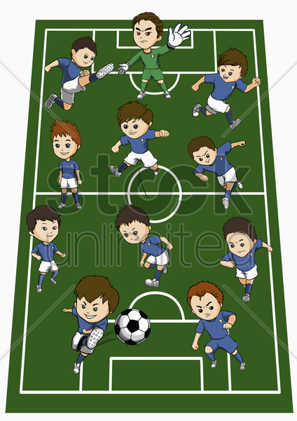 italy team formation stock photo