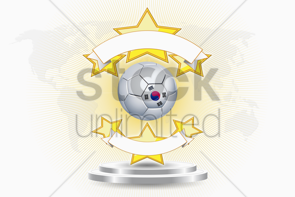 korea soccer ball emblem stock photo