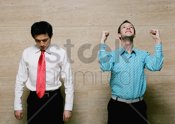 loser and winner stock photo
