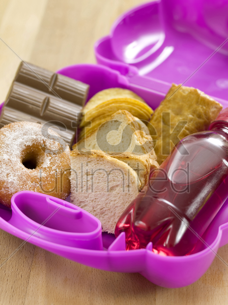 lunch box stock photo