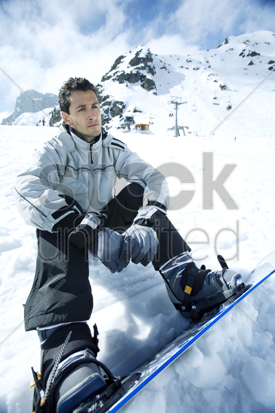 male snowboarder stock photo