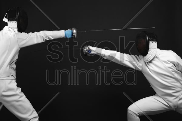 man attacking his opponent stock photo