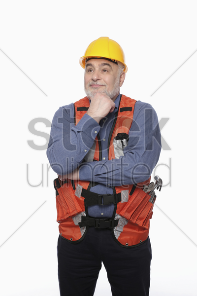 man having a thought stock photo