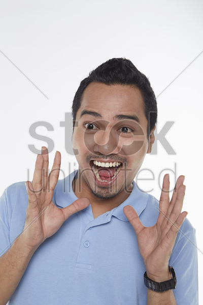 man looking surprised stock photo