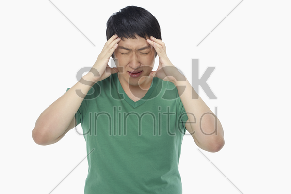 man looking very frustrated stock photo