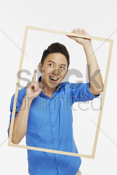 man with a solution stock photo