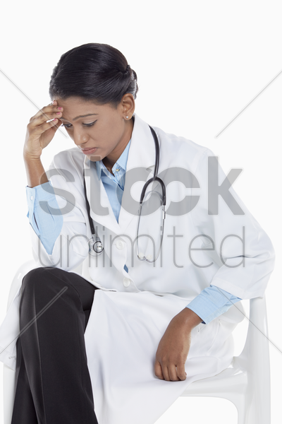 medical personnel feeling stressed stock photo