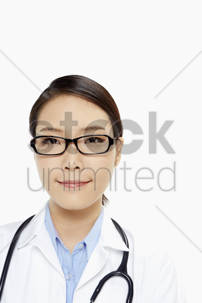 medical personnel with arms crossed, smiling stock photo