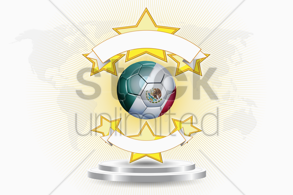 mexico soccer ball emblem stock photo