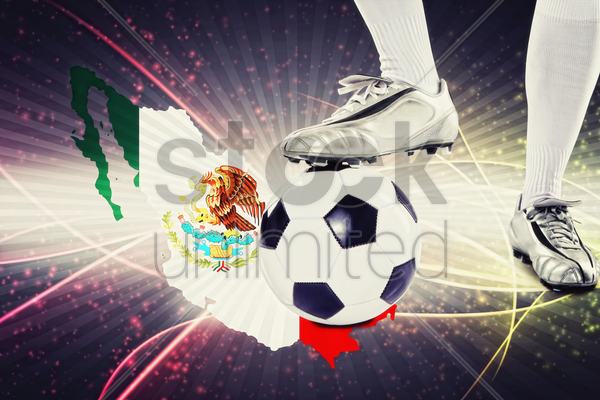 mexico soccer player ready for kick off stock photo