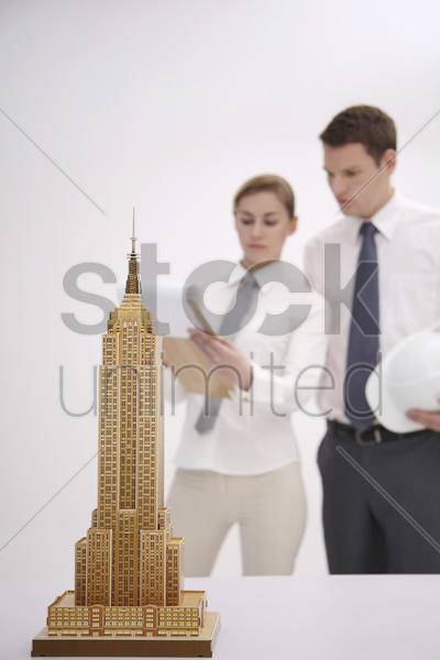 model of empire state building stock photo