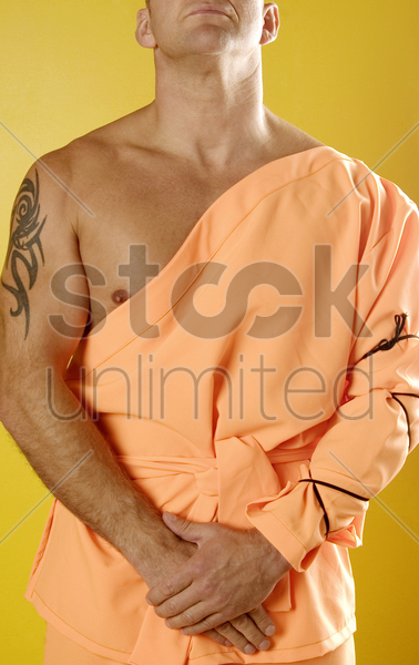 monk standing calm stock photo