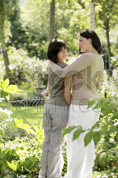 mother and daughter spending time together stock photo
