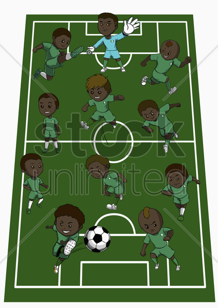 nigeria team formation stock photo