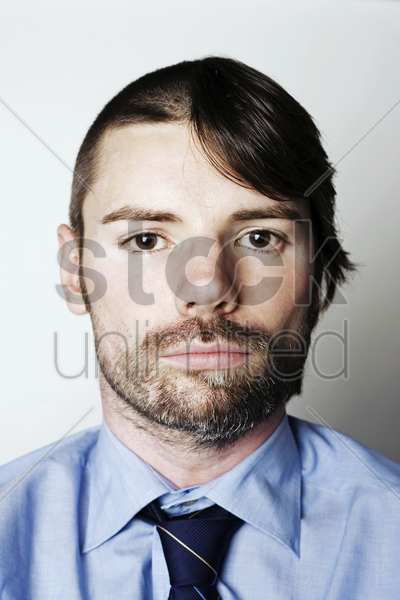 one man with two different styles stock photo