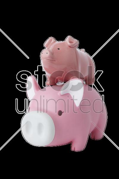 Piggy banks stock photo 1915366 stockunlimited for Transparent piggy bank money box