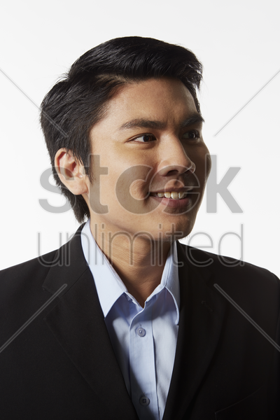 portrait of a businessman smiling stock photo