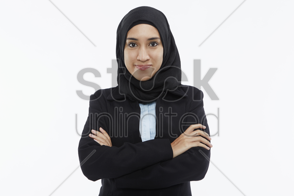 portrait of a businesswoman smiling stock photo
