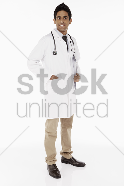 portrait of a medical personnel smiling stock photo