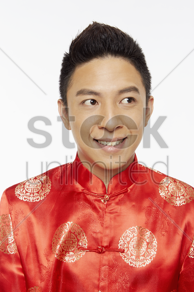 portrait of a smiling man stock photo