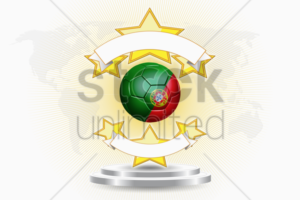 portugal soccer ball emblem stock photo