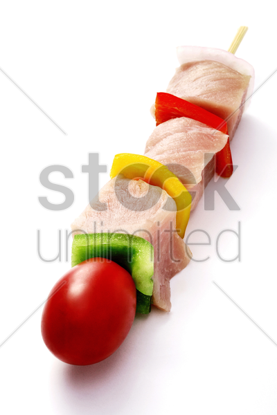 raw kebab stock photo