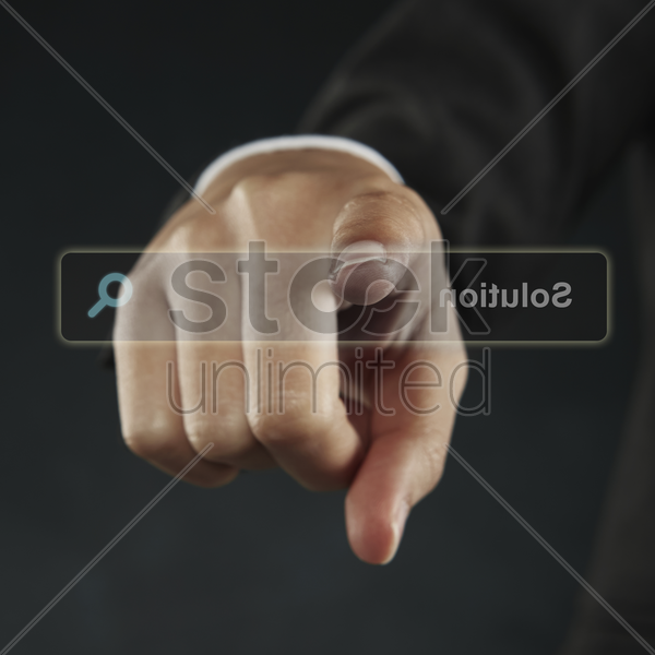 reverse view of a search bar stock photo