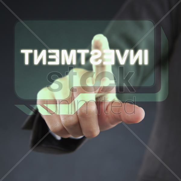 reverse view of the word 'investment' stock photo