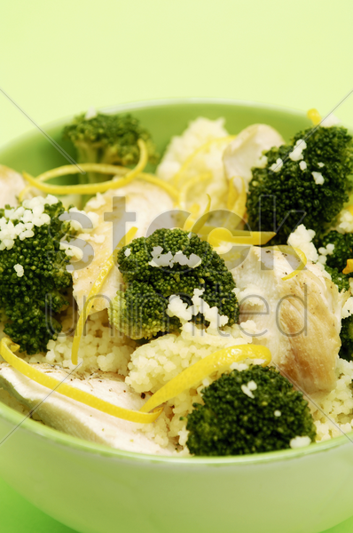 risotto with broccoli stock photo