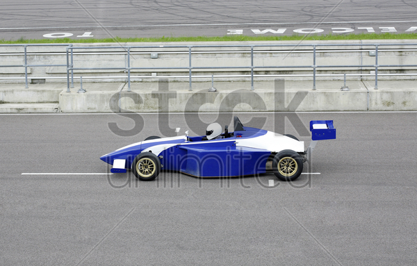 side profile of a formula one racing car stock photo