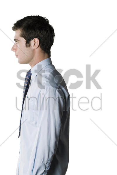 side shot of a businessman stock photo