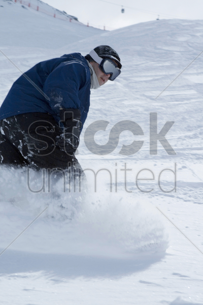 snowboarding, winter sport stock photo