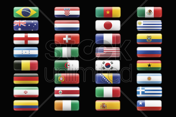 soccer team flags stock photo