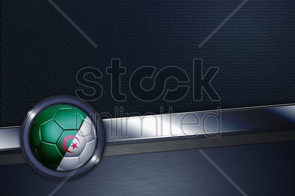 sports interface with algeria soccer ball stock photo
