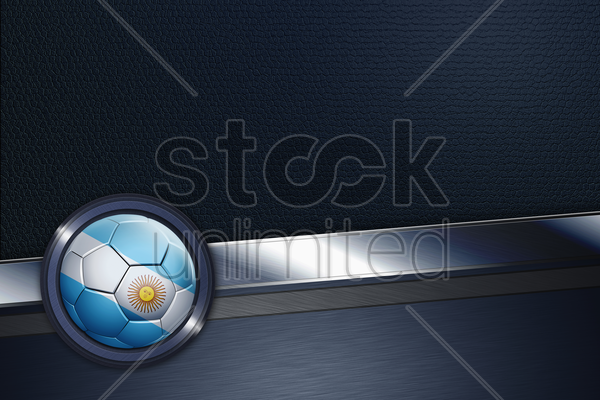 sports interface with argentina soccer ball stock photo