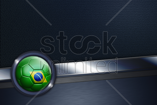 sports interface with brazil soccer ball stock photo