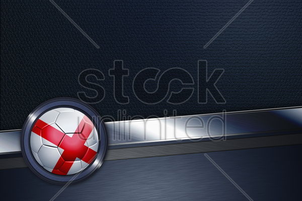 sports interface with england soccer ball stock photo