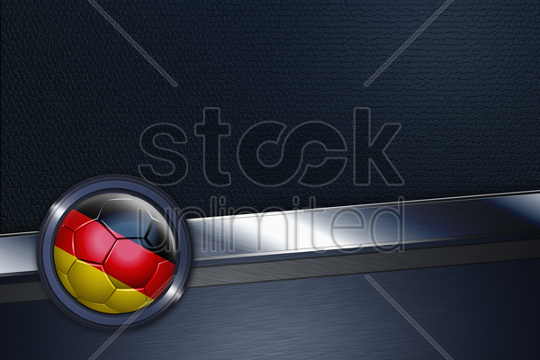 sports interface with germany soccer ball stock photo
