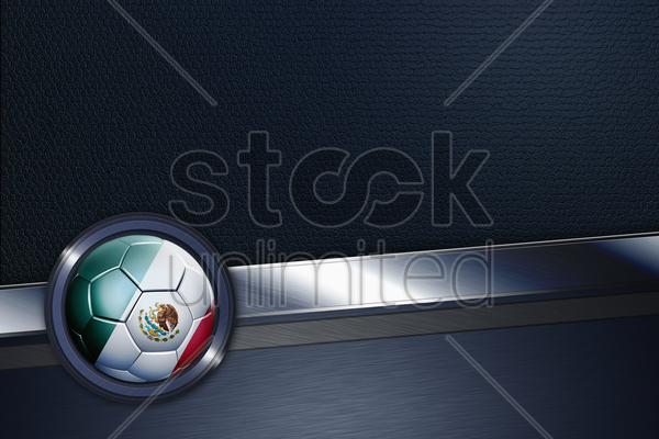 sports interface with mexico soccer ball stock photo