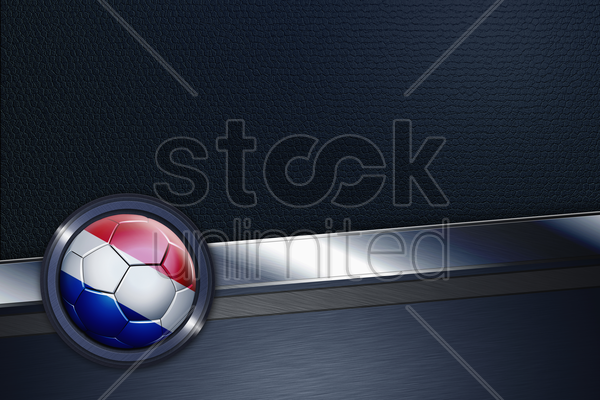sports interface with netherlands soccer ball stock photo