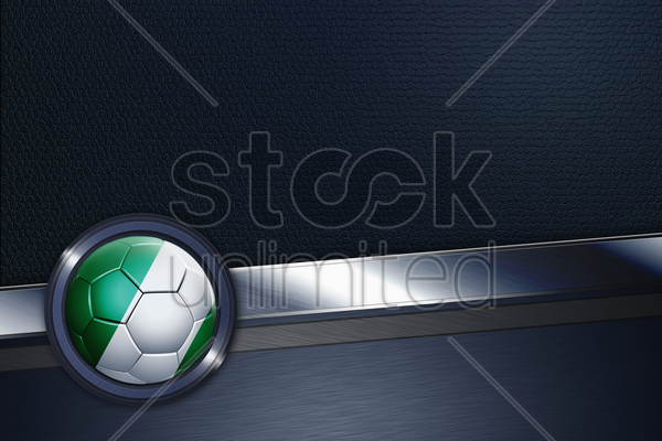 sports interface with nigeria soccer ball stock photo