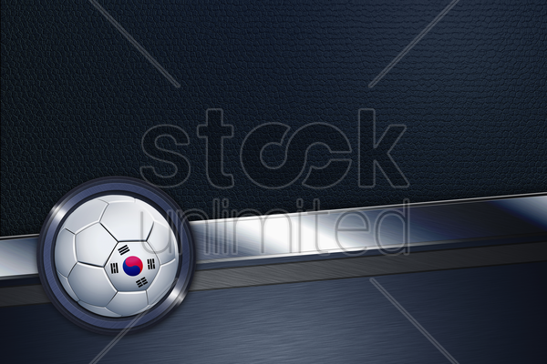sports interface with south korea soccer ball stock photo