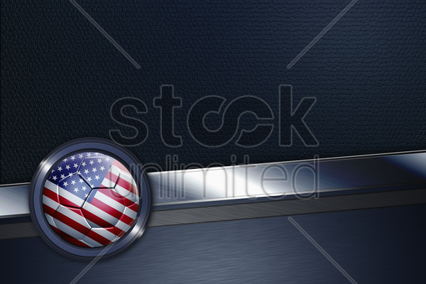 sports interface with usa soccer ball stock photo