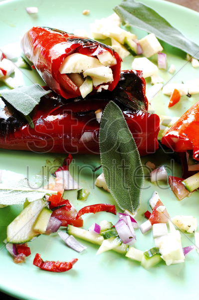 stuffed chillies stock photo