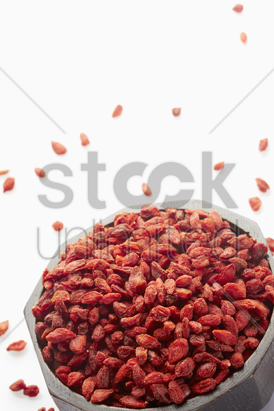 traditional chinese herb chinese wolfberries stock photo
